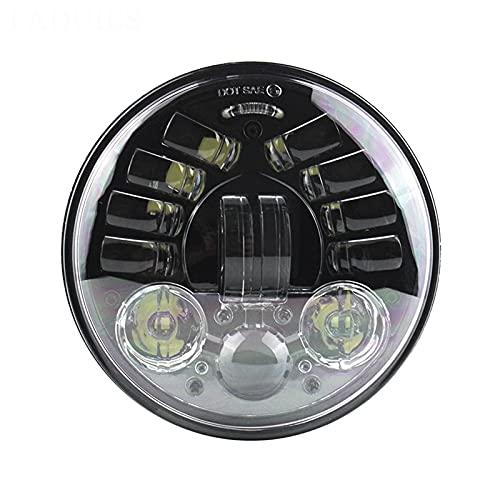Motocicleta Redonda De 5.75'Faros Delanteros LED Adaptables Motocicleta 5 3/4 Pulgadas, 70W Luces De Conducción LED,Negro