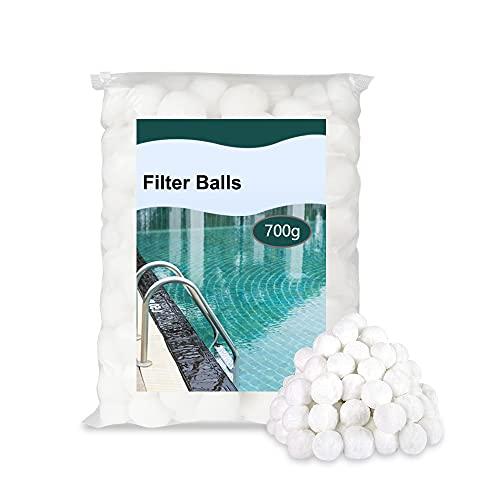 KWODE Filter Balls, Filterballs für sandfilteranlagen 700g Filterbälle ersetzen 25 kg Filtersand für Pool Sandfilter, Schwimmbad, Filterpumpe, Aquarium Sandfilter