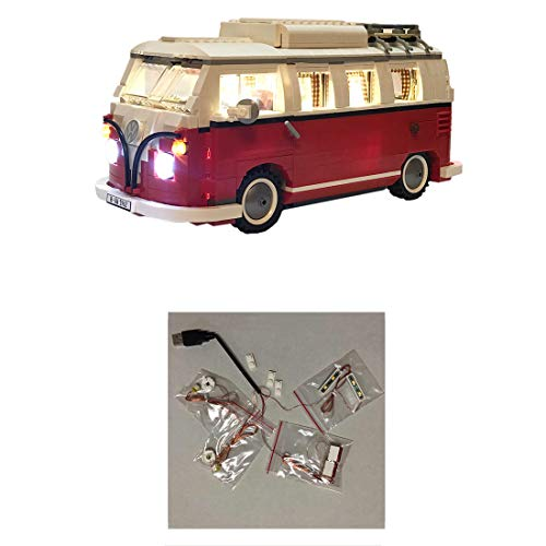 WWEI LED Lighting Kit Light Set for 10220 Volkswagens T1 Camper Van, Decoration Light Compatible with Lego (LED Included Only)