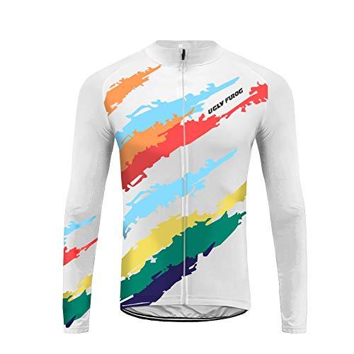 Uglyfrog 2019-2020 Nuovo Maglia Ciclismo Manica Lunga Abbigliamento da Ciclismo MTB Traspirante Asciugatura Veloce da Uomo CXML04