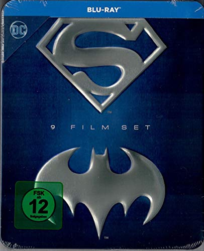 Batman Superman Anthology - Metallbox [Blu-ray] Superman – Der Film + Superman 2 + Superman 3 +Superman 4 + Superman Returns +
