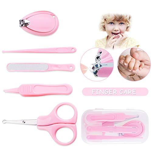 baby maniküre set,baby nagelscheren,baby nagelfeile,baby pinzette,baby nagelpflegeset,5 in 1 baby nagelknipser neugeborene,baby pflege-set