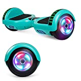 UNI-SUN Bluetooth Hoverboard for Kids Two-Wheel Self Balancing Hoverboard with LED Lights - UL 2272 Certified, Green
