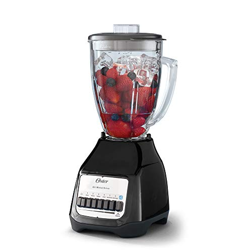 Oster 6 Speed Blender with Pulse - With Glass Jar - All Metal Drive System - Ice Crushing Blades - 4661B