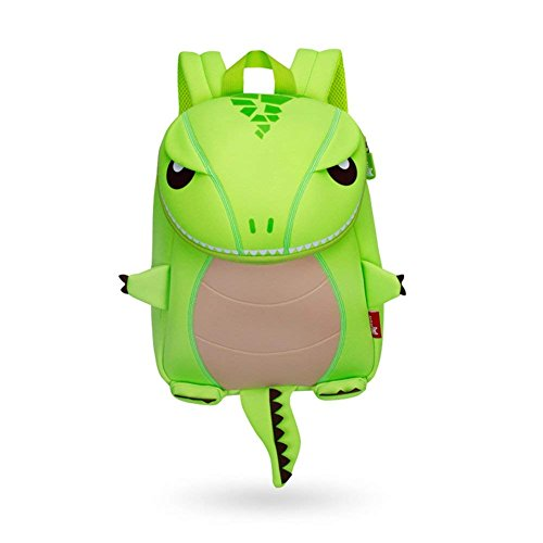 Kinder Rucksack Dinosaurier Tier Cartoon Kinder Schultasche Lunch Bag Cute Kindergarten Placochelys Drachen Beste Geschenk für Jungen 3-8 Jahr Monster (grün)