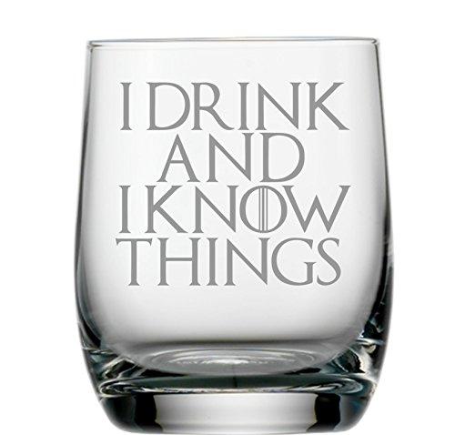Game of Thrones Geïnspireerd Gebogen Whisky Glass Met