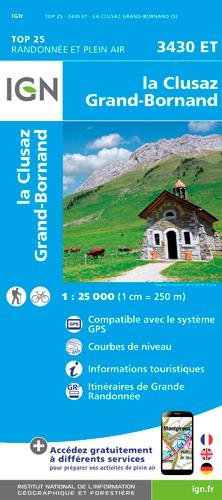 La Clusaz - Grand-Bornand 1 : 25 000 (Ign Map)
