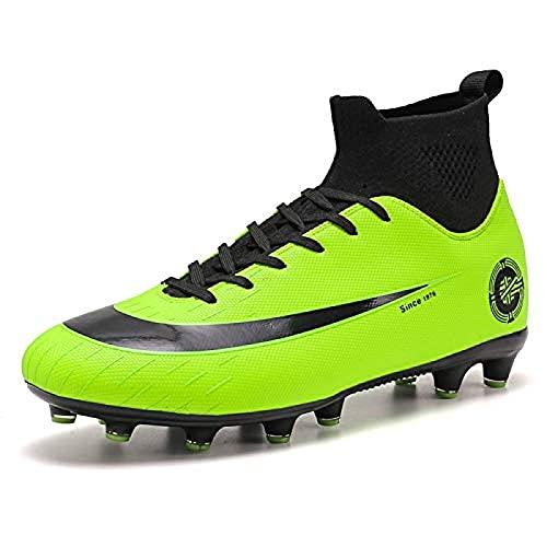 High Top Spikes Entrenadores Profesional Zapatillas de deporte de competición Zapatos de los Hombres Botas de Fútbol Niño de Fútbol Atletismo Zapatos 7UK GrünAg