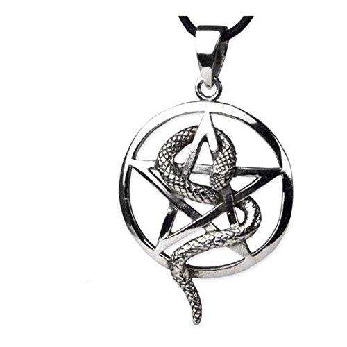 Pentagramm Drudenfuß Gothic Anhänger Amulett Magie Wicca Hexen Pentagram
