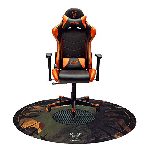 Woxter Stinger Station Orange - Silla Gaming(Racing) + Alfombrilla Gaming de Suelo