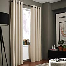 Kenneth Cole Reaction Home Gotham Texture 108-Inch Lined Grommet Window Curtain Panel in Hemp
