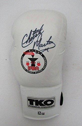 Christy Martin Signed TKO White Glove JSA R88724 - Autographed Boxing Gloves