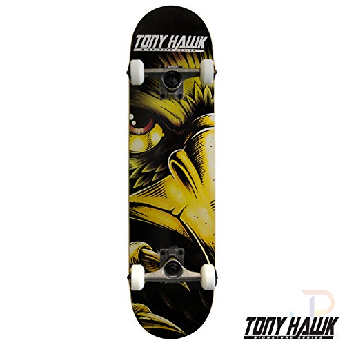 Tony Hawk Evil Eye Gold Skateboard - 7.75 inch