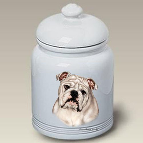 Bulldog White - Tamara Burnett Treat Jars.