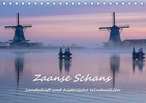 """Zaanse Schans - Landschaft und historische Windmühlen (Tischkalender 2021 DIN A5 quer): Eine Reise durch den alten """"Zaanse Stil"""" - pittoresk, historisch, malerisch (Monatskalender, 14 Seiten )"""