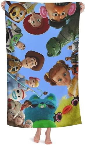 QWAS Toy Story Woody - Toalla de playa, baño, Lightyear, Hot Spring, bañera, natación, viajes, (L3,70 x 140 cm)