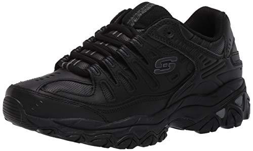 Skechers  Men's After Burn Memory Fit - Reprint Shoe,Black,12 4E US
