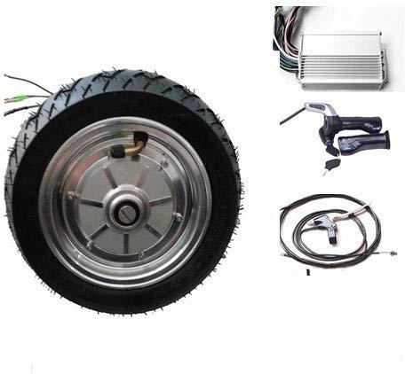 GZFTM Roue électrique de Scooter de 9 Pouces 500W 24V Moteur électrique sans Brosse de hub de moyeu kit de Conversion électrique de Scooter