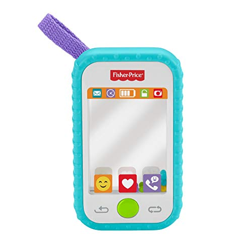 Fisher-Price #Selfie Fun Phone, Baby Rattle, Mirror and Teething Toy, Multi-Colored, 10