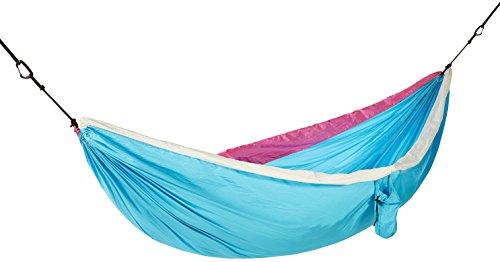 Amazon Basics - Hamaca doble, ligera, color azul