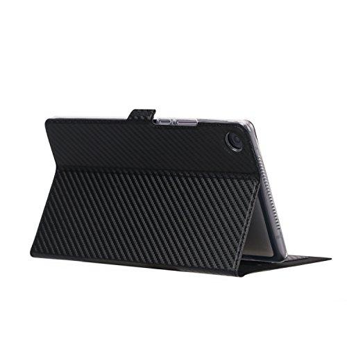ISIN Premium Carbonfaser Textur Schutzhülle Cover für Huawei MediaPad M5 8,4 SHT-W09 SHT-L09 SHT-AL09 8,4