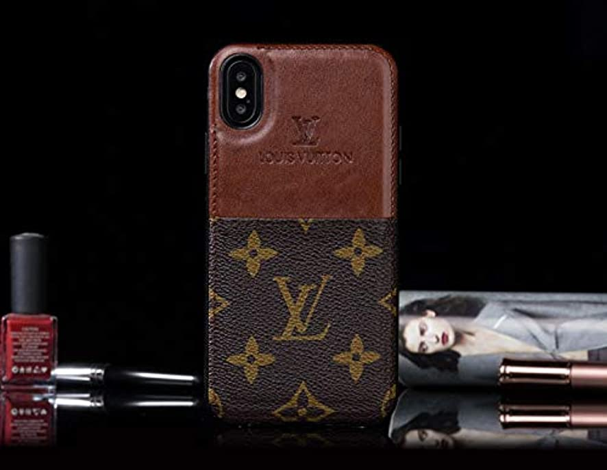 RYAB Card Slot -US Fast Deliver - Luxury Elegant PU Leather Monogram Classic Style Case Cover for Apple (iPhone XR)