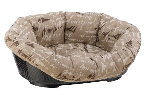 Ferplast 70222999 Kunststoffbett SOFA 2, für Hund und Katze, mit herausnehmbarem, gepolstertem Baumwollbezug, Liegefläche ca.: 36 x 24cm, sortiert