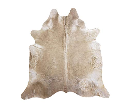 Teppich aus Kuhfell, Farbe: Taupe, Größe 220 x 200 cm, Premium - Qualität von Pieles del Sol aus...