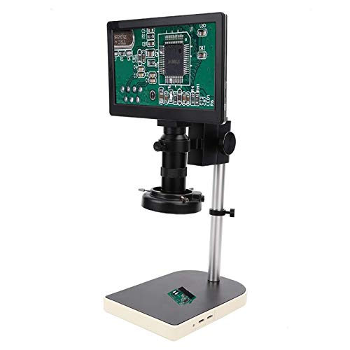 9 Inch LCD Digital Microscope, 100X 2MP Magnification 1080P Full HD Electronic Microscopes set, with LED Ring Light, Microscope Bracket Set, for Adults PCB Soldering, Phone Repairing, Support TF Card
