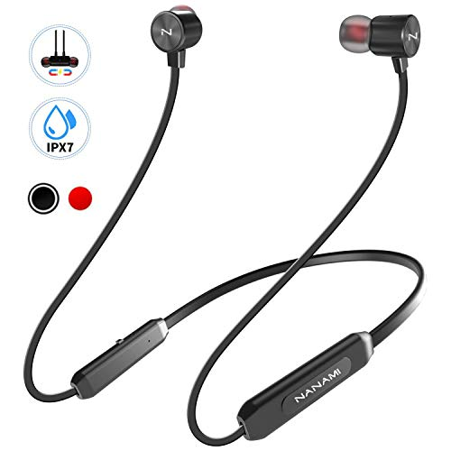 Bluetooth Headphones, NANAMI Sports Wireless Headsets Neckband V5.0 Magnetic Bluetooth Earphones in-Ear Earbuds with Waterproof Built-in Mic for iPhone Workout Running