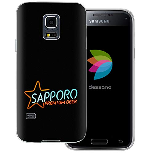 dessana Japan Sightseeing transparante beschermhoes mobiele telefoon case cover tas voor Samsung Galaxy S Note, Samsung Galaxy S5 mini, Sapporo Bier