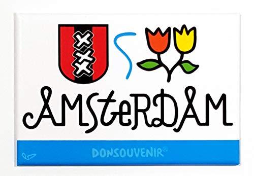 DONSOUVENIR Amsterdam CALAMITA da FRIGO. Modello: Logo. Magnet