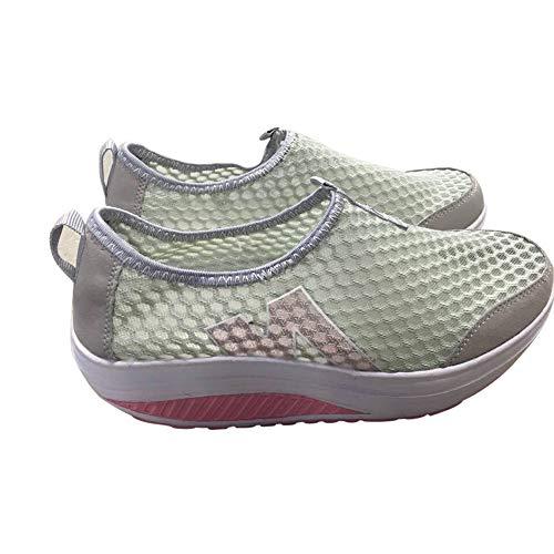Damen Mokassins Bootsschuhe Leder Arbeitsschuhe Freizeit Flache Loafers Halbschuhe Fahren Sandalen Klettverschluss Erbsenschuhe