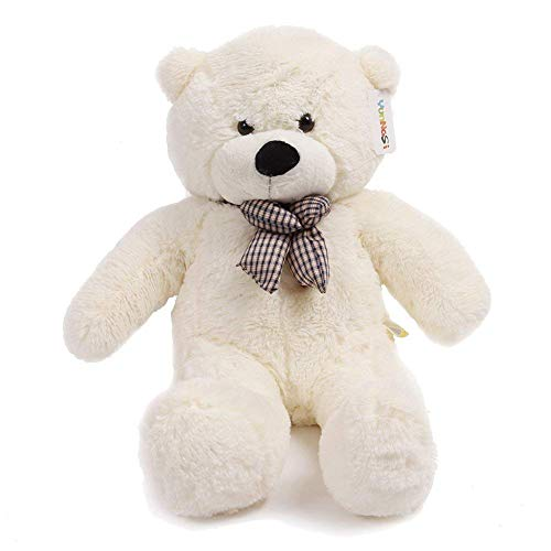 YunNasi 47' Giant Teddy Bear White Color 120cm Huge Cuddly Stuffed Animals...