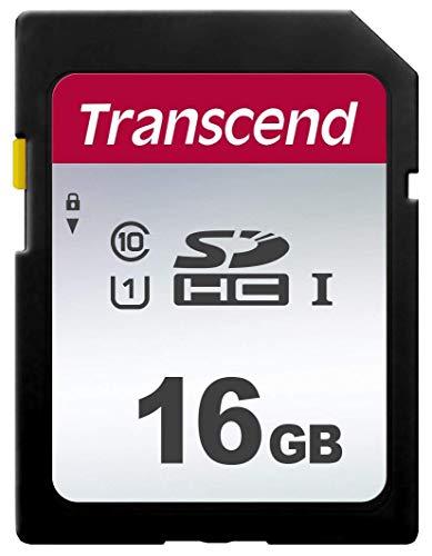 Transcend Ts16Gsdc300S-E Scheda di Memoria Sdhc da 16 Gb, Imballaggio Apertura Facile, 300S, Standard