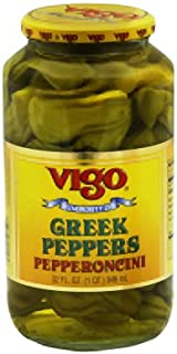 Vigo Importing Company Peppers, Greek, 32-Ounce (Pack of 6)