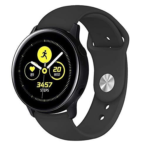 Pulseira Sport para Samsung Galaxy Watch Active 40mm e 44mm - Gear S2 Classic - Galaxy Watch 42mm - Amazfit GTR 42mm - Amazfit Bip - Marca Ltimports (Preto)
