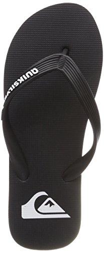 Quiksilver Herren Molokai-Flip-Flops for Men Badeschuhe, Schwarz (Black/Black/White Xkkw), 42 EU