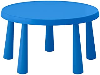 IKEA Mammut Children's Table Indoor Outdoor Blue 903.651.80 Size 33 1/2