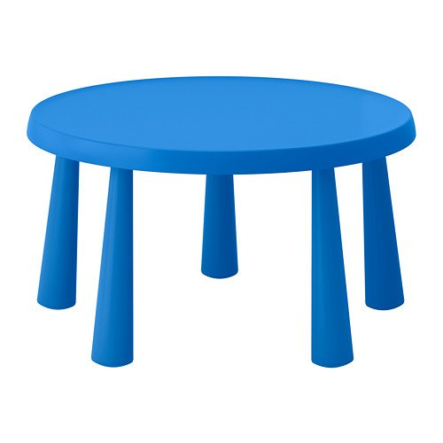 Ikea Mammut 903.651.80 - Mesa infantil para interiores y exteriores, color azul