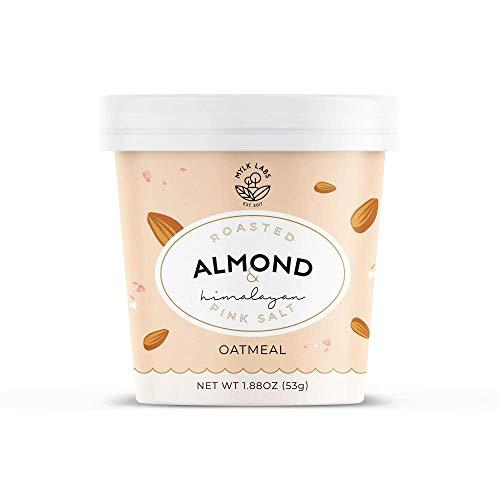 Mylk Labs Gluten Free Instant Oatmeal Cup, Roasted Almond & Himalayan Pink Salt - Vegan, Low Sugar, Non-GMO, Kosher - 12 Pk