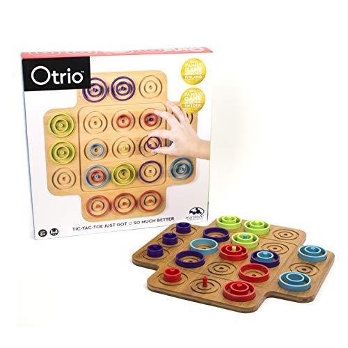Marbles 6045064 - Otrio - Taktikspiel mit hochwertigem Holz-Spielmaterial (inkl. deutscher Anleitung)