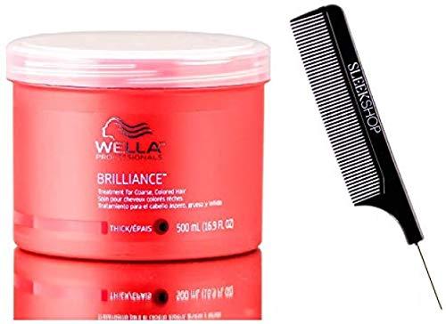 Wella Professionals Tratamiento brillantez (estilista Kit) para dar volumen, engrosamiento acondicionado Mask Mascarilla Acondicionador En Color (Grueso - 16.9 oz / 500 Ml - XXL Tamaño Pro)