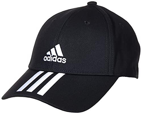 adidas Baseball 3-Streifen Cotton Twill Kappe, Black/White/White, OSFM