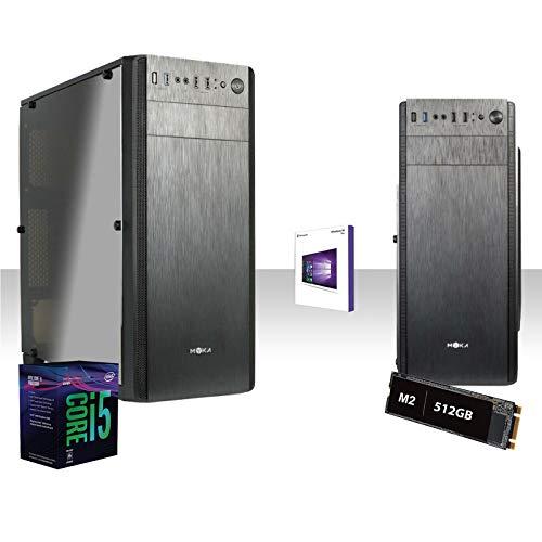 GAMMA PC SSD DESKTOP COMPLETO INTEL I5-9600k 4.6 GHZ 6-CORE 9°GEN/LICENZA WINDOWS 10 PRO 64 BIT/GRAFICA HD 630 1GB/WIFI 300MBPS/SSD m2 512gb/RAM 16GB DDR4 2666 MHZ/HDMI,Usb 3.0
