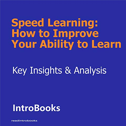 Speed Learning cover art
