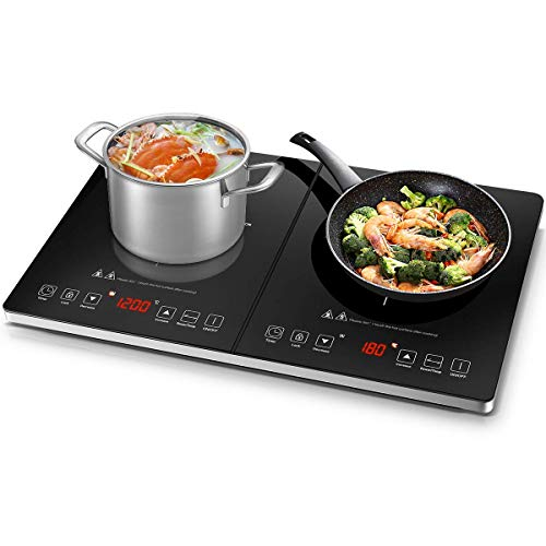 AMZCHEF Induction Hob, Double Induction Cooker...