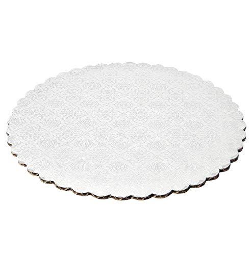 """9"""" White Scalloped Edge Cake Boards, 6 ct"""