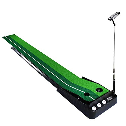 Putting Mats Portable Golf Greens Family Golf Putting Exerciser Indoor Mini Golf Blanket Golf Practice Set with Back Track Best Gift Training Putters (Color : Green, Size : 30300cm)