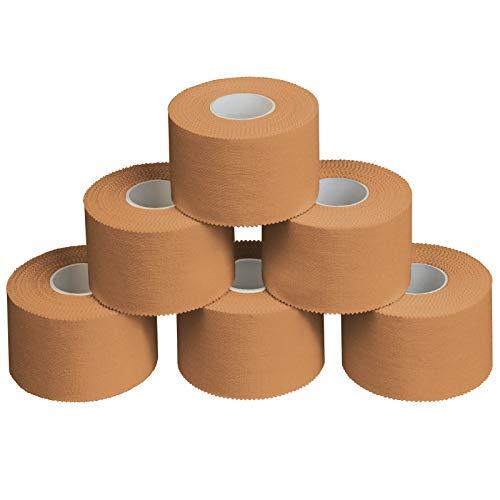ALPIDEX 6 x Sport Tape 3,8 cm x 10 m, Colore:Colore della Pelle
